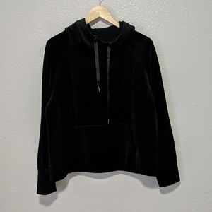 Core 10 Velour Cowl Neck Hoodie w/Kangaroo Pocket